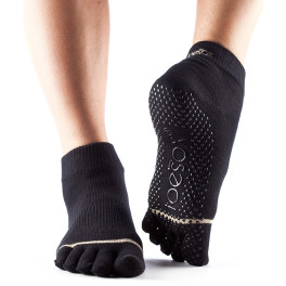 - Toesox Calcetines Con Dedos Ankle Negro M