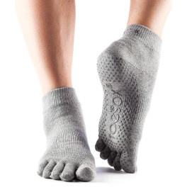 Toesox Calcetines Con Dedos Ankle Gris