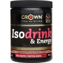 Crown Sport Nutrition Isodrink & Energy 640 g con BCAAs y Glutamina extra e Informed Sport