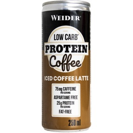 Weider Low Carb Protein Coffee 24 latas x 250 ml