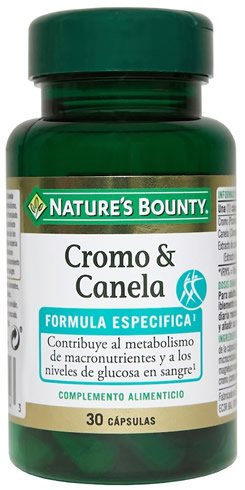 Nature´s Bounty Cromo & Canela 30 caps