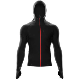 Compressport Sudadera 3D Thermo Seamless Woodpulp Zip Hoodie FW Negro