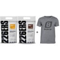 Pack 226ERS Recovery Drink 1 kg + Isotonic Drink 1 kg + Camiseta Exclusiva Bulevip
