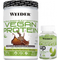 Pack Weider Vegan Protein 750 gr + Omega UP Gummies 70 Gominolas