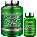 Pack Scitec Nutrition 100% Whey Isolate con L-Glutamina adicional 2 kg + Green Coffee Complex 30 caps