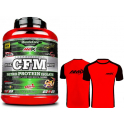 Pack Amix MuscleCore CFM Nitro Protein Isolate 2 kg + Camiseta Runfit Limit Roja-Negra