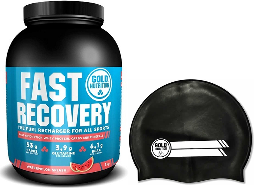 Pack Gold Nutrition Fast Recovery 1 Kg + Gorro Natacion Negro Sin Cargo