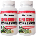 Pack Weider Green Coffee & Garcinia Cambogia 2 botes x 90 caps