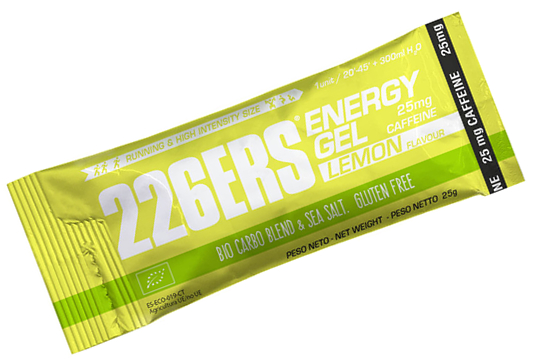 226ERS Energy Plus Gel BIO Limon con 25 mg de Cafeina en Stick - 1 gel x 25 gr