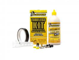 X-Sauce Kit Tubeless Mtb V. Fina - Cinta Negra 23mm.
