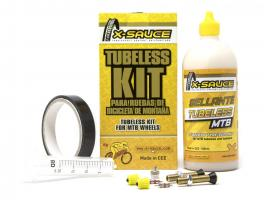 X-Sauce Kit Tubeless Mtb V. Gorda - Cinta Negra 23mm.