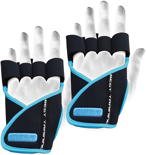 Chiba Guantes Lady Motivation Negros y Azules