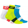Giro Calcetines Comp Racer 3 Pack 2018 Amarillo Azul Blanco