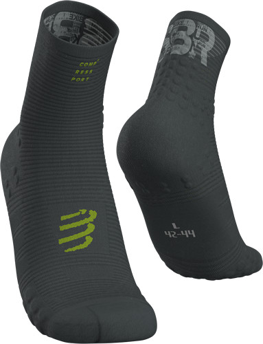 Compressport Calcetines Socks Run High V3 Born to SBR 2019 Gris