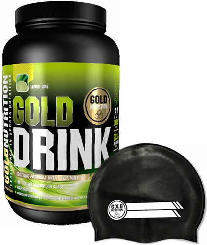 Pack Gold Nutrition Gold Drink 1 kg + Gorro Natacion Negro