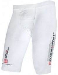 Compressport Malla Compresión Triathlon Short Blanco