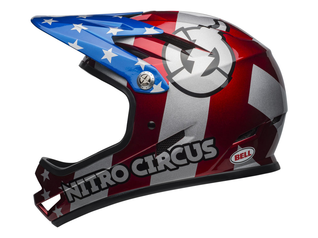 Bell Sanction 2019 Red/silver/blue Nitro Circus L