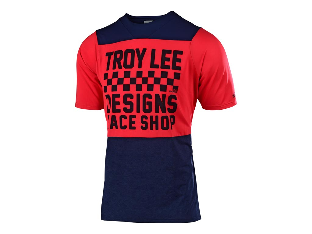Troy Lee Designs Skyline S/s Jersey 2019 Checkers Navy / Red L