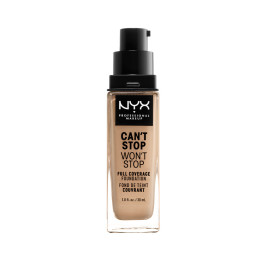 Nyx Can't Stop Won't Stop Full Coverage Foundation Buff 30 Ml Mujer