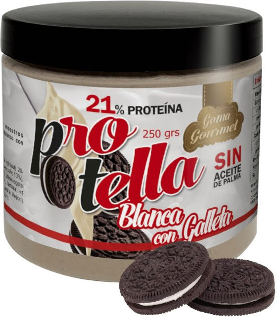 Protella Crema de Chocolate Blanco y Galleta 250 gr