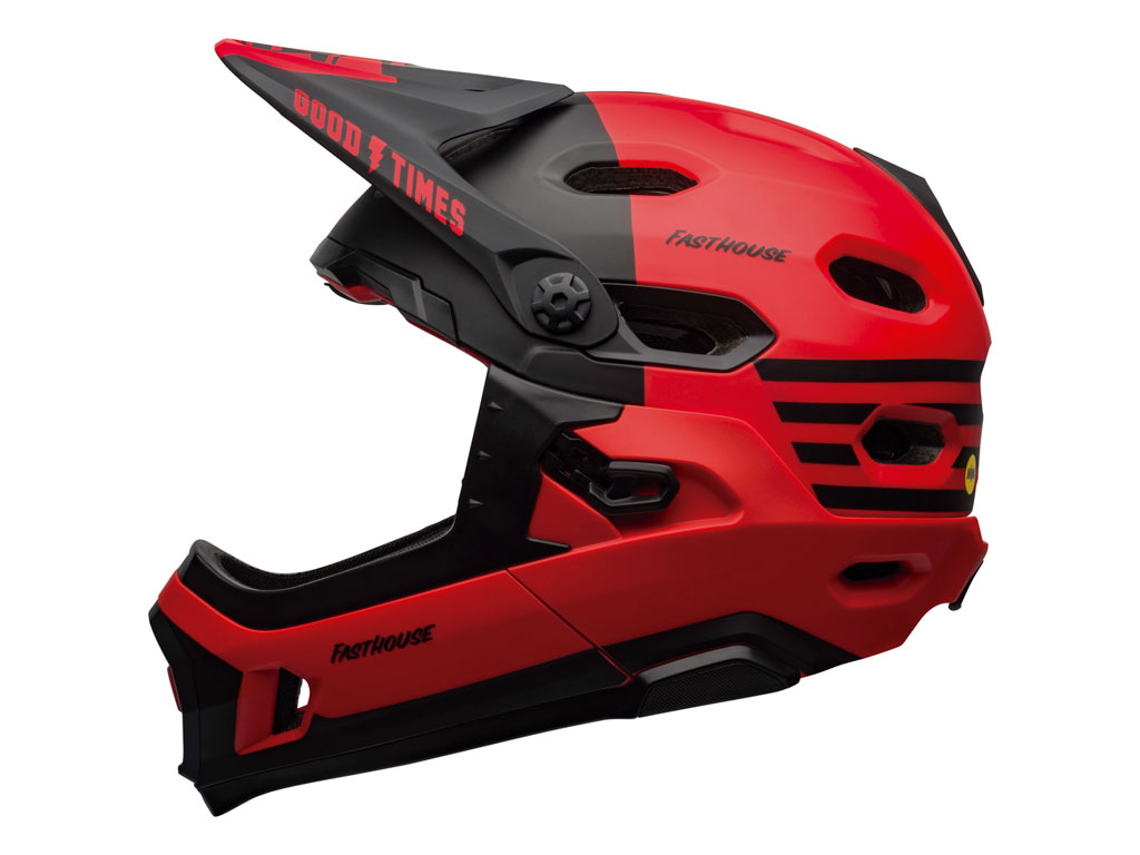 Bell Super Dh Mips 2020 Red/black Fasthouse S