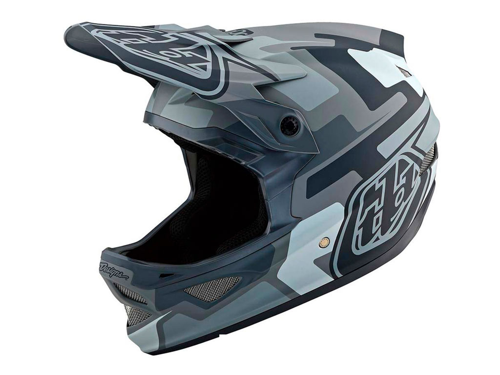 Troy Lee Designs D3 Fiberlite 2019 Factory Camo Gray S