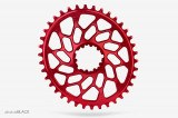 Absolute Black Plato Cyclocross Ovalado Sram Direct Mount Gxp & Bb30 Red 42t