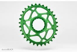 Absolute Black Plato Mtb Ovalado Raceface Dm Boost 148 Green (3mm Offset)