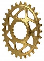 Absolute Black Plato Mtb Ovalado Raceface Dm Boost 148 Gold (3mm Offset)