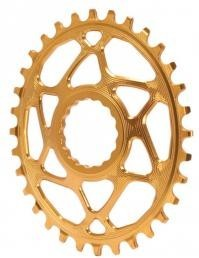 Absolute Black Plato Mtb Ovalado Raceface Dm Gold (6mm Offset)