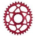 Absolute Black Plato Mtb Ovalado Raceface Dm Red (6mm Offset) 34t