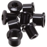 Absolute Black Repuesto - Bolts  for Road & Mtb Black - 4 X Long Bolts + Nuts These Are For 110/4bcd Big Rings