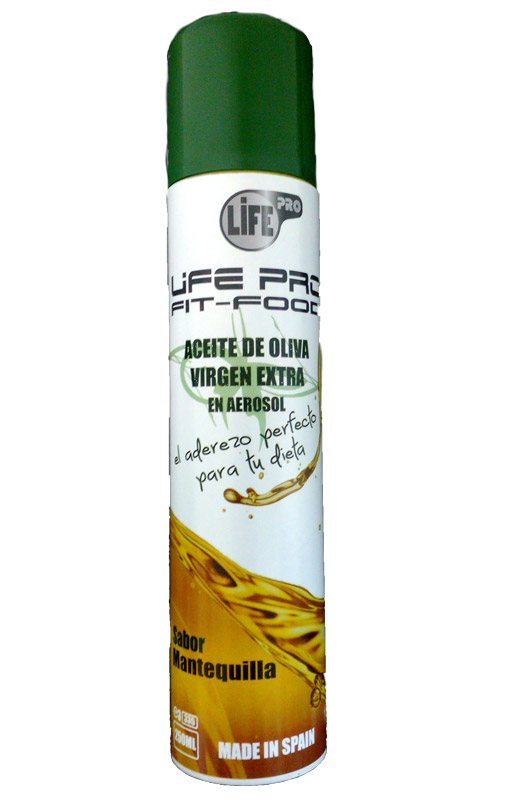 Life Pro Fit Food Aceite Spray Sabor Mantequilla 250 Ml.