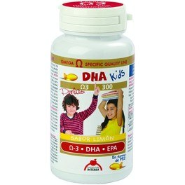 Intersa Dha Kids Sabor Limon 90 Perlas Masticables
