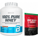 Pack BioTechUSA 100% Pure Whey 2270 gr + Iso Whey Zero XMAS Edition 500 gr