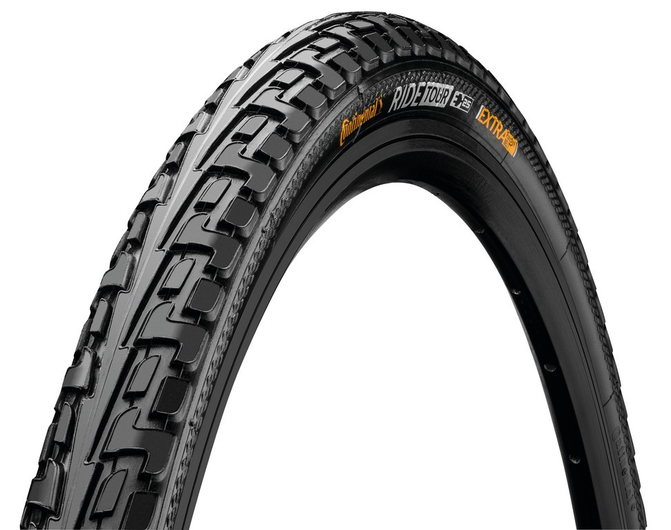 Continental Cubierta Ride Tour 700x28c Rigida Negro Reflectante 28-622