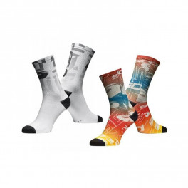 Sidi Calcetines Fun17 Blanco/gris