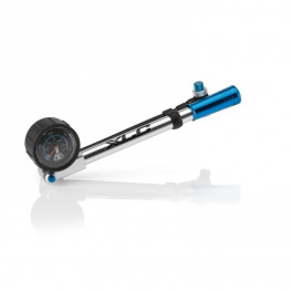 Xlc Pu-h03 Hinchador Horquilla Suspension Highairpro Manometro/racor Plata/azul