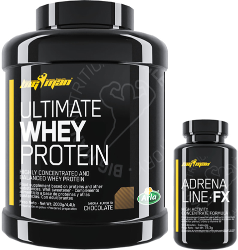 Pack BigMan Ultimate Whey Protein 2 kg + Adrenaline FX 30 caps