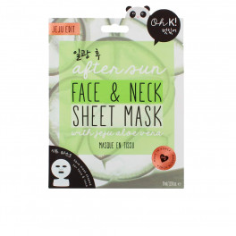 Oh K! After Sun Aloe Sheet Face And Neck Mask Unisex