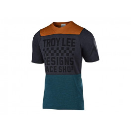 Troy Lee Designs Skyline S/s Air Jersey 2019 Checkers Htr Clay / Cadet Xl