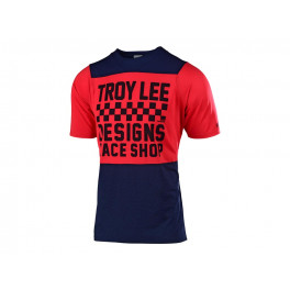 Troy Lee Designs Skyline S/s Jersey 2019 Checkers Navy / Red Xl