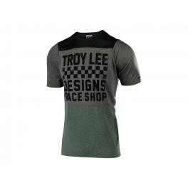 Troy Lee Designs Skyline S/s Jersey 2019 Checkers Camo / Htr Taupe Xl