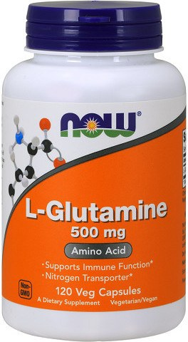 Now L-glutamina 500 Mg 120 Caps