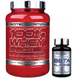 Pack Scitec Nutrition 100% Whey protein Professional 920 gr + Beta Alanine 150 caps