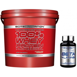 Pack Scitec Nutrition 100% Whey protein Professional 5 kg + Beta Alanine 150 caps
