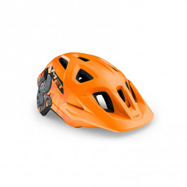 Met Casco Junior Eldar Naranja Pulpo Mate Talla Unica (52-57 Cm)