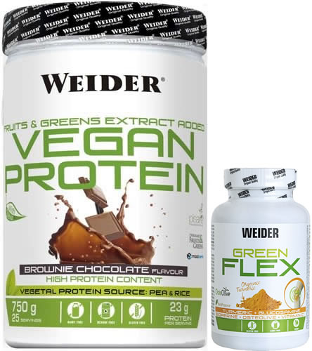Pack Weider Vegan Protein 750 gr + Green Flex 30 caps