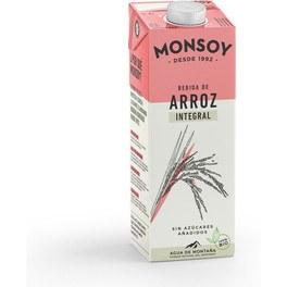 Monsoy Bebida De Arroz Integral Bio 1 L
