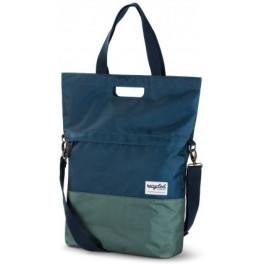 RECYCLED SHOPPER BICYCLE BAG 20L - BLUE GREEN